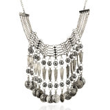 Necklace Vintage Alloy Coin Tassel Fashion Choker Statement Necklace Jewelry
