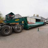 Titan 3 Axle Low Bed 80 Ton 100 Ton 120 Ton Folding Removable Detachable Gooseneck Lowboy Trailer Price