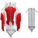 Garment Rail Display/3 Sides Mobile Mesh Clothing Display Rack