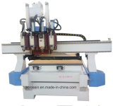 Nesting CNC Router Machine with Drilling Bank and Circular Tool Changer for Wooden Furniture