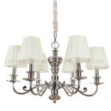 Wrought Chandelier with Fabric Shade (SL2085-6)