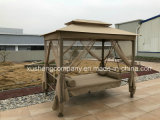 Outdoor Swing Bed Chair with Cushion Patio with Sunbed Swing
