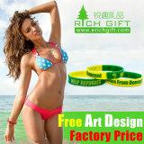 Advertising Stainless Steel Nice Singapor Segmented Fashion Silicone Bracelet