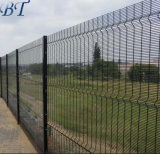 3D Curvy Green PVC Coated Steel 358 Mesh Perimeter High Security Fencing