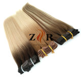 Brown Color Double Drawn Brazilian Hair Clip in Human Hair Extension