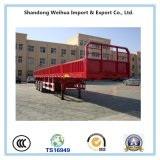 12.4m 40t Triangle Tyre Fuwa 3 Axle Side Wall Flat Bed Truck Semi Trailer for Vietnam