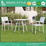 Aluminum Dining Set High Quality Dining Chair Stackable Chair Outdoor Coffee Table (Magic Style)