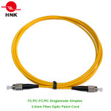 FC/PC to FC/PC Singlemode Simplex 3.0mm Fiber Optic Patch Cord