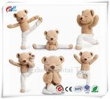 Yangzhou Factory Direct Soft Yoga Bear Stuffed Yoga Soft Jointed Teddy Bear Toy