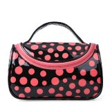 Lady Fashion Dotted Mirror PVC Makeup Wash Cosmetic Bag (YKY7513)