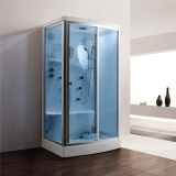 Monalisa Blue Glass Steam Room Shower Cabinet for Sale (M-8256)