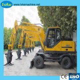8.5t Wheel Excavator 0.3m3 Bucket Capacity Wheel Excavator