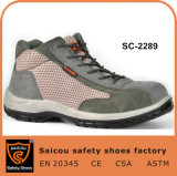 Grey Sportive MID Cut Groundwork Safety Boots Wholesale Guangzhou Sc-2289