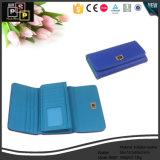 Fashion Handmade Leather Lady's Women Purse Card Holder Wallet (8367)