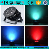Mini Stage 4PCS*8W Rgbwau 6in1 Flat LED PAR Light
