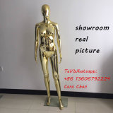 6 FT Plastic Female Mannequin Chrome Mannequin Golden Plated Mannequin