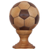 Wooden Football Decoration Made by Walnut and Maple