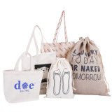 Custom Wholesale Lady Handbags Grocery Gift Tote Shopping Canvas Cotton Bag