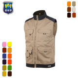 65% Polyester 35% Cotton Mens Outdoor Multi Pockets Work Vest