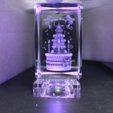 Christmas Gifts Crystal Glass Cube Laser Engraving OEM Logo