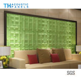 Fire Proofing Polyester Fiber Interior Decorative 3D Sound Proofing Board for Background Wall