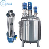 Leno Price Liquid Storage Emulsifying Drum Disperser Homogenizer Tank Electric Steam Heating Mixer Jacketed Vessel Agitator Reactor Stainless Steel Mixing Tank
