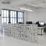 Laser Cut Aluminum Perforated Metal Screen Panels in Office
