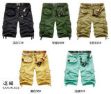 New Cotton Twill Garment Dyed Mens Cargo Shorts