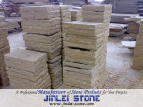 Natural Split Paving Stone Chinese Light Yellow Sandstone
