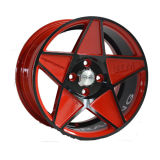 Painted Red with Black Inner Groove 15 Inch Wheel UFO-202