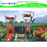 Small Outdoor Playground Set with Cartoon Et Roofs (HK-50027B)