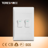 Electrical 2 Gang Lighting South Africa Wall Switch and Socket