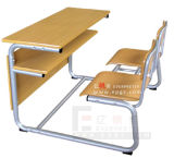 Gt-51-Double Student Desk and Chair, Popular Double Desk and Chair
