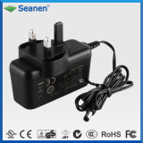 Black 18W 12V 1.5A BS Switching Mode AC DC Power Supply