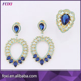 Brazil Design Luxury Dark Blue Jewelry Set