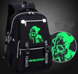Korean Leisure Travel Backpacks Junior School Students School Bag Night Light Pattern Customization