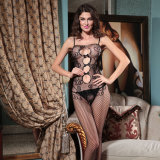 Wholesale Plus Size Lingerie Black Mesh Stocking Sexy Fish Stocking Fat Women Bodystocking