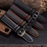 High-Quality Carbon Fiber Grain Leather Watch Band