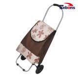 Stylish Flower Pattern Shopping Trolley Smart Cart Disabled Shopping Cart