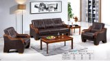 Hot Sale Leisure Home Hotel Office Sofa with Wooden Armrest