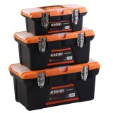 Kseibi Heavy Duty Truck General Empty Plastic Tool Box with Clips for Storage & Mechanic