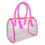 Transparent PVC Waterproof Tote Bag for Shopping, Cosmetic, Beach