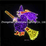 Large LED Hallowen Decoraton Witch Broom Witch