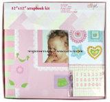 """12""""X12"""" Baby Girl Paper Scrapbook Album Kit"""