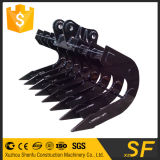 Construction Machinery Parts of Excavator Covered Rake Bucket Made in Sf