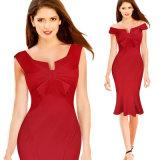 Fashion Sleeveless Evening Dress for Wholesale