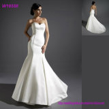 100% Polyester Strapless Gorgeous Cheap Sell Wedding Dress Bridal Ball Gown