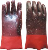 Smooth Finish PVC Glove with Anti-Slip Rubber Dots Glove (5128)