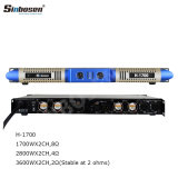 Sinbosen H-1700 2 Channel 2 Ohms Stable Professional Digital Power Amplifier for The Line Array Speaker