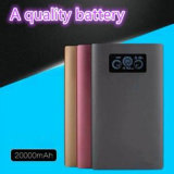 Aviation Alloy Mobile Charger 20000mAh Power Bank with 4USB for Laptop